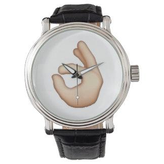 Relógio Emoji - dedo do círculo