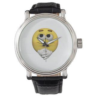 Relógio emoticon da satisfacção