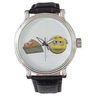 Relógio Emoticon doente amarelo ou smiley