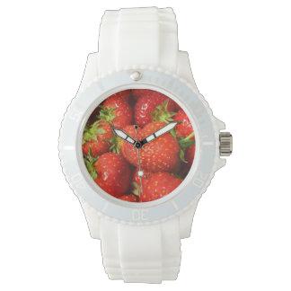 Relógio enfrentado morango