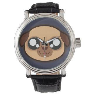 Relógio engraçado do cão de Kawaii