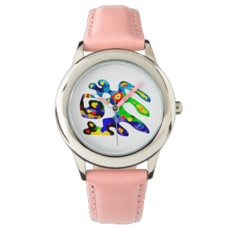 Relógio engraçado do colourfull vívido