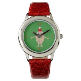 Relógio engraçado dos miúdos do ovo do Natal