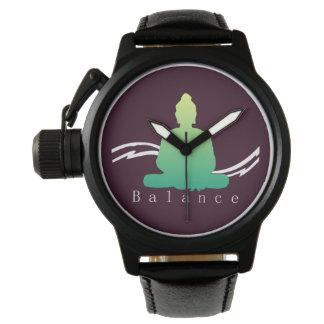 """Relógio """"Equilíbrio"""" Buddha. bonito"""