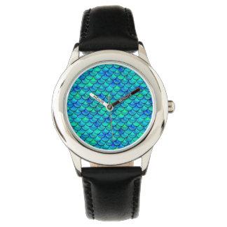 Relógio Escalas do azul do Aqua de Falln
