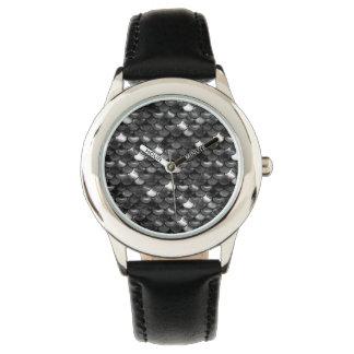 Relógio Escalas preto e branco de Falln