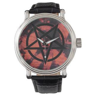 Relógio escuro de Baphomet das energias