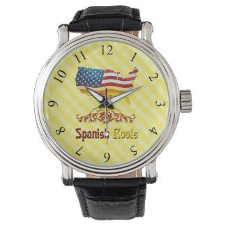 Relógio espanhol americano das raizes