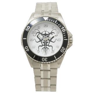 Relógio Espécie tribal estrangeira 273 do tatuagem preto e