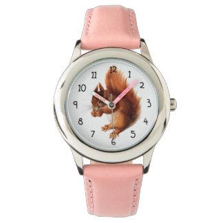 Relógio Esquilo vermelho do vintage bonito