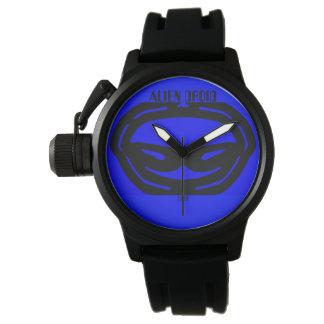 relógio estrangeiro azul do droid de dois kats