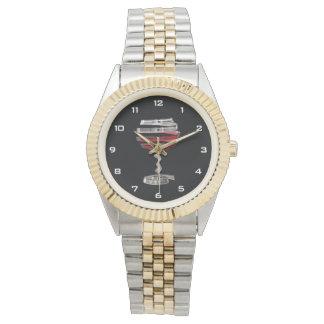 Relógio estranho do bracelete do Dois-Tom do vidro