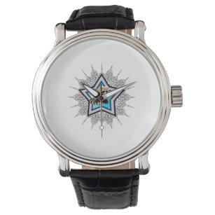 3a0f26cf339 Relógio De Pulso Guaxinim mascarado pequeno do bandido do amor. R  158.  Relógio Estrela azul do guaxinim