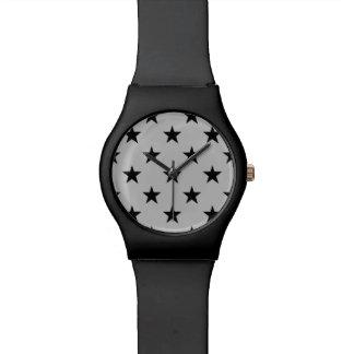 Relogio Estrelas modernas simples na moda legal do teste