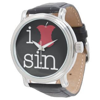 Relógio Eu amo o pecado