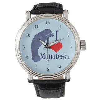Relógio Eu amo peixes-boi