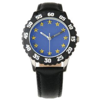 Relógio Europa estandarte
