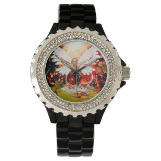 Relógio Fada maravilhosa com cisne