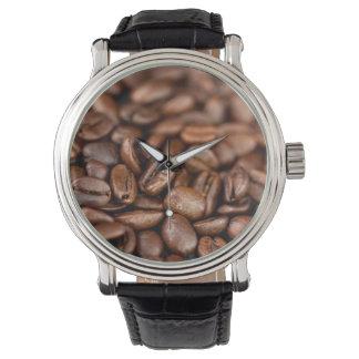 Relógio Feijões de café Roasted