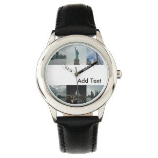Relógio feito sob encomenda de New York dos miúdos