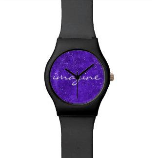 Relógio feito sob encomenda ultravioleta da cara
