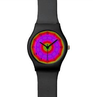 Relógio feliz das cores