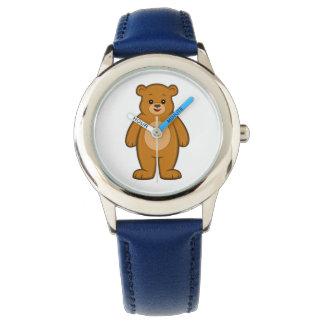 Relógio feliz do urso dos desenhos animados