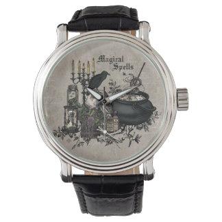 Relógio FERMENTAÇÃO moderna das BRUXAS do Dia das Bruxas