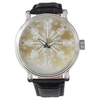 Relógio Floco de neve do ouro