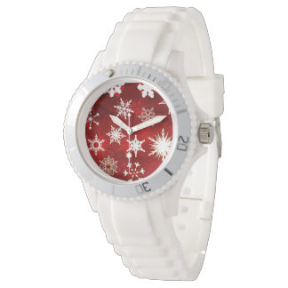 Relógio Flocos de neve festivos do Natal