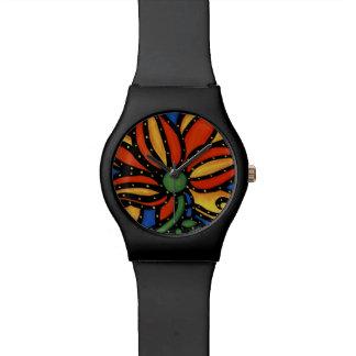 Relógio Flor abstrata