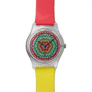 Relógio Flor mandalaic hipnótica