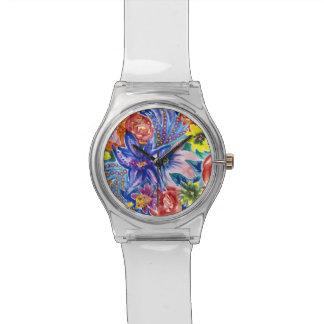 Relógio floral bonito do Watercolour May28th
