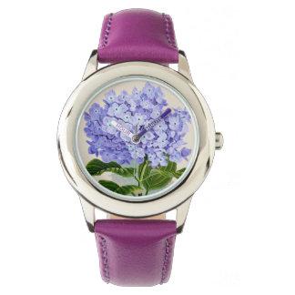 Relógio floral do Hydrangea roxo