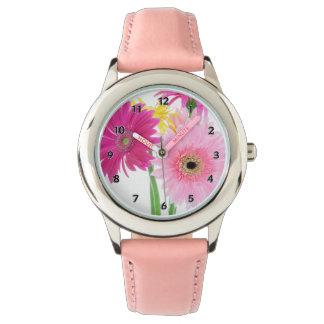 Relógio Flores da margarida do Gerbera