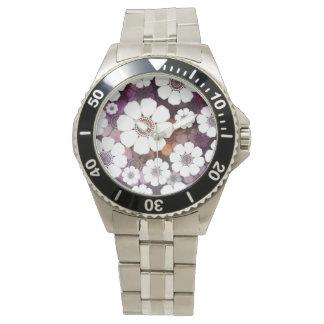 Relógio Flower power roxo Funky