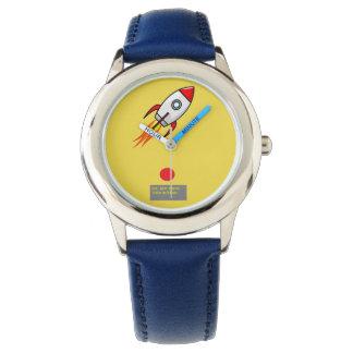 Relógio Foguete dos desenhos animados