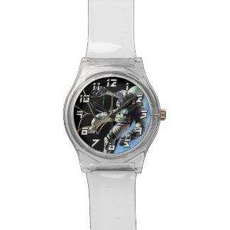 Relógio Foto americana do Spacewalk do astronauta da NASA