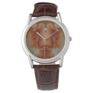 Relógio Fractal ambarino