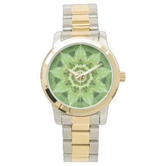 Relógio Fractal da estrela do cacto do Succulent