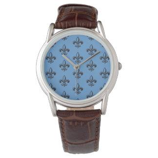 Relógio Français élégant de Seigneur da flor de lis de