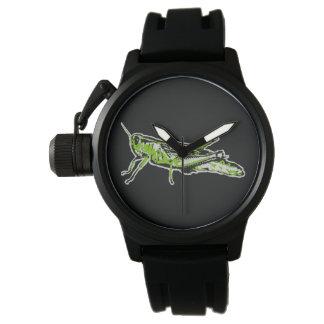 Relógio Gafanhoto verde do pop art