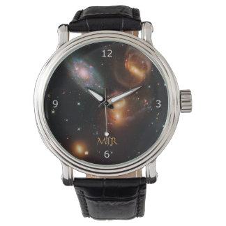 Relógio Galáxias da estrela do espaço profundo do quinteto