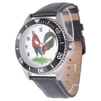 Relógio Gamecock:  Escuro - vermelho