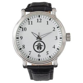 Relógio Ganso selvagem dado laços no círculo