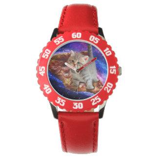 Relógio gato da pizza - gatos bonitos - gatinho - gatinhos