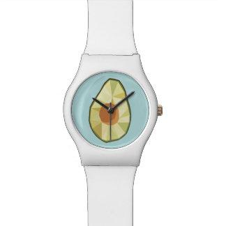 Relógio geométrico do abacate