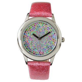 Relógio Glittery da paz