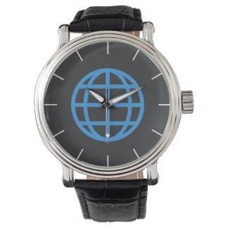 Relógio Globo meridiano azul