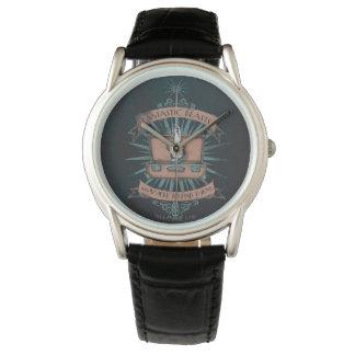 Relógio Gráfico da pasta do Newt fantástico dos animais